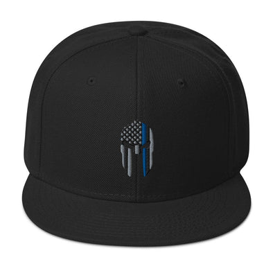 opszillastore,Thin Blue Line Spartan Helmet Embroidered Snapback Hat,