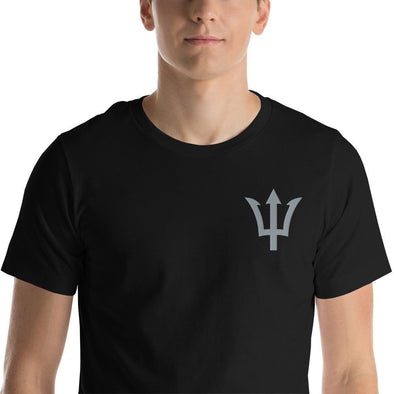 Trident Embroidered Short-Sleeve Unisex T-Shirt - XS