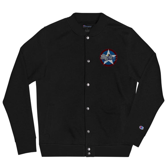 UAV Drone Embroidered Champion Bomber Jacket - Black / S