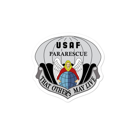 opszillastore,United States Air Force Pararescue (PJ) Bubble-free stickers,