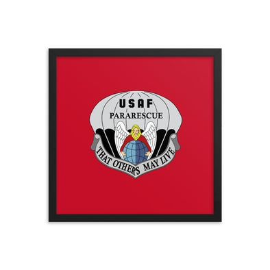opszillastore,United States Air Force Pararescue (PJ) Framed poster,