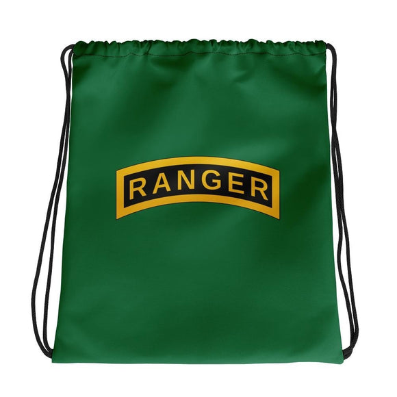 United States Army RANGER Tab Drawstring bag