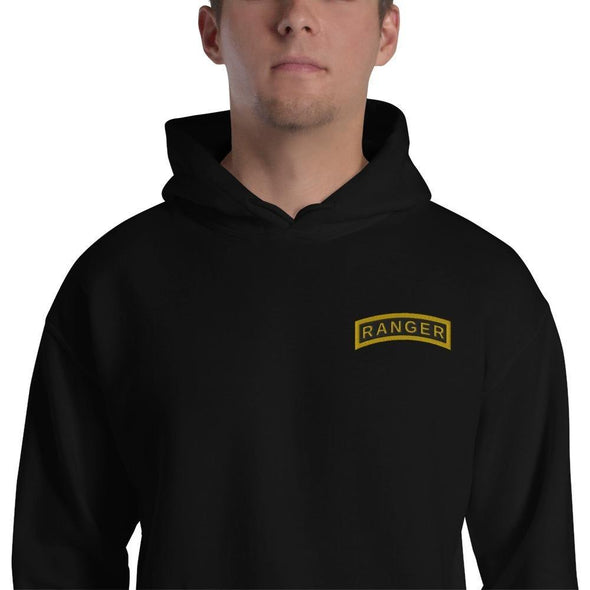 United States Army RANGER Tab Embroidered Unisex Hoodie - Black / S