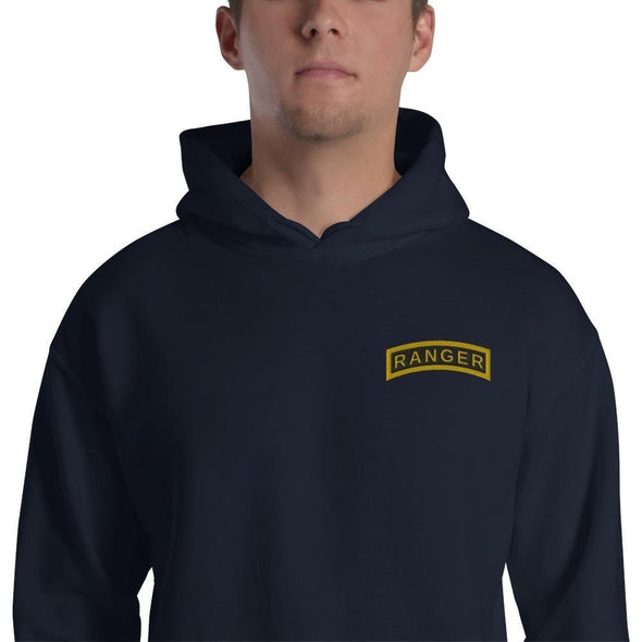 United States Army RANGER Tab Embroidered Unisex Hoodie - Navy / S