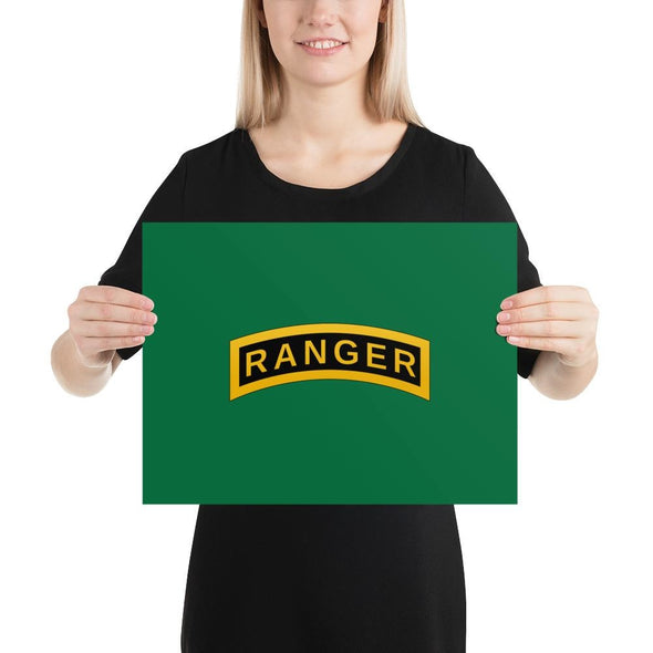 United States Army RANGER Tab Poster - 12×16