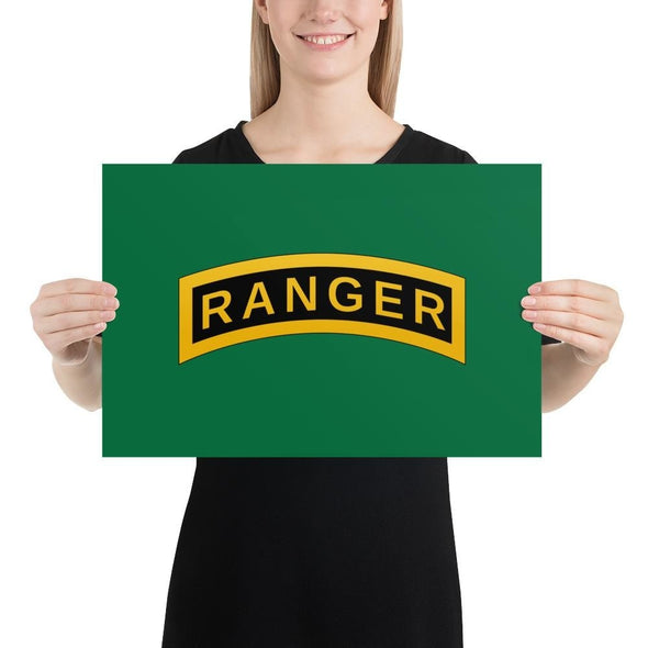 United States Army RANGER Tab Poster - 12×18