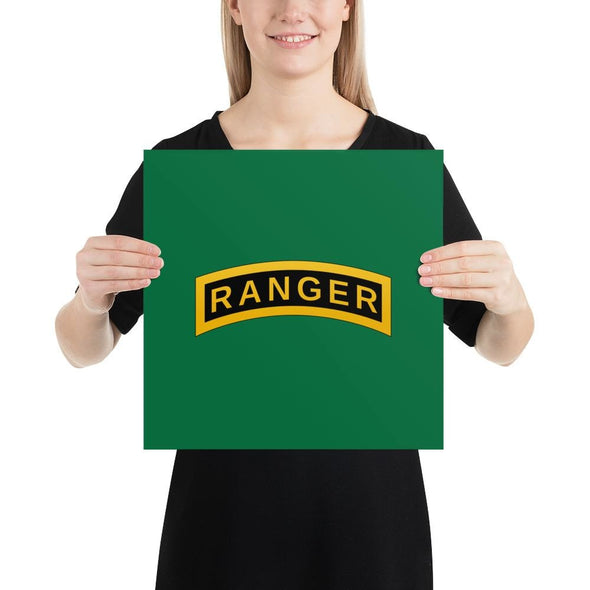 United States Army RANGER Tab Poster - 14×14