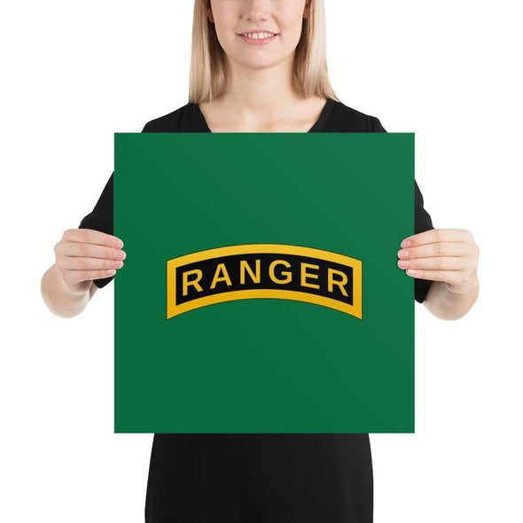 United States Army RANGER Tab Poster - 16×16
