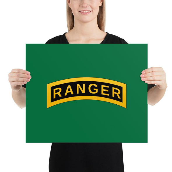 United States Army RANGER Tab Poster - 16×20