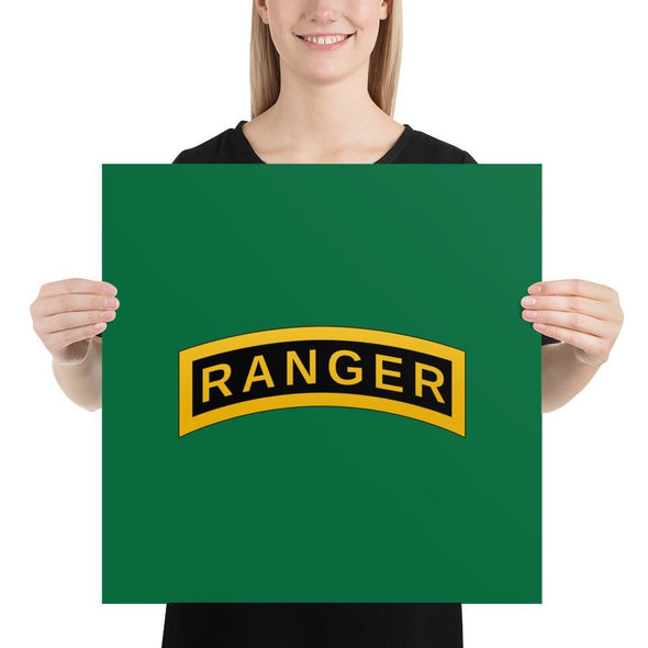 United States Army RANGER Tab Poster - 18×18