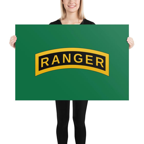 United States Army RANGER Tab Poster - 24×36