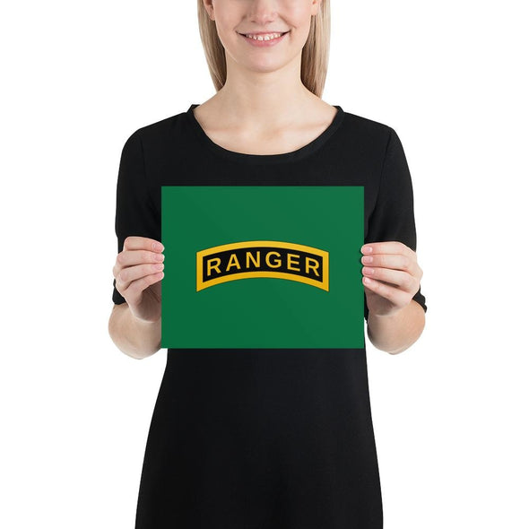 United States Army RANGER Tab Poster - 8×10