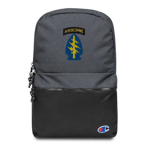 United States Army Special Forces Airborne Embroidered Champion Backpack