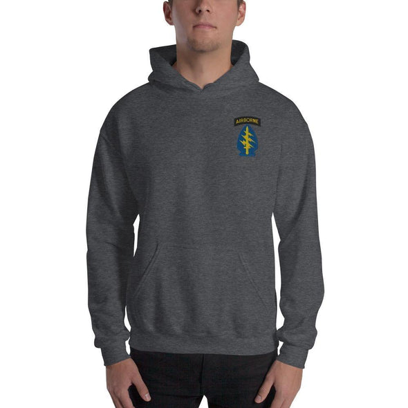 United States Army Special Forces Airborne Embroidered Unisex Hoodie - Dark Heather / S