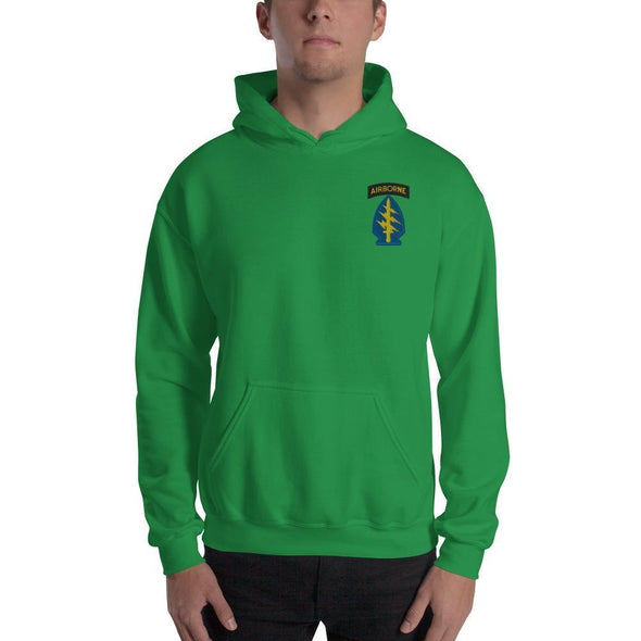 United States Army Special Forces Airborne Embroidered Unisex Hoodie - Irish Green / S