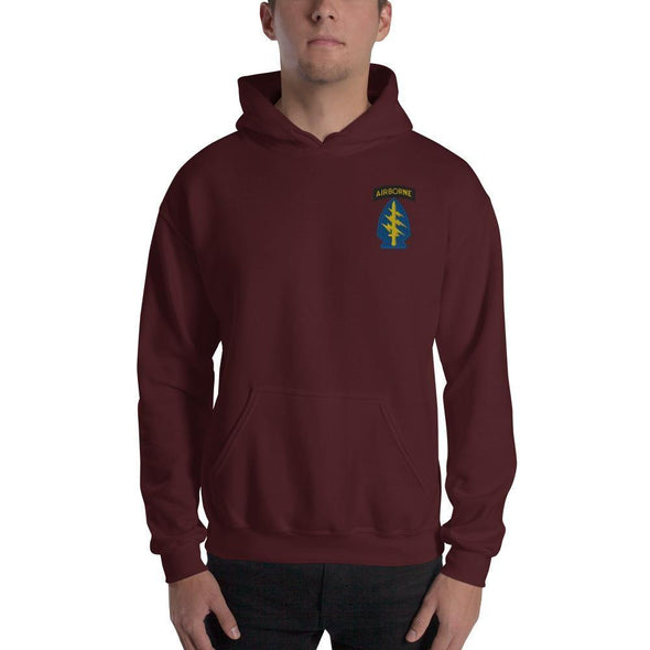 United States Army Special Forces Airborne Embroidered Unisex Hoodie - Maroon / S