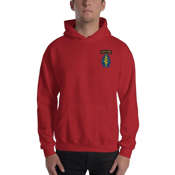 United States Army Special Forces Airborne Embroidered Unisex Hoodie - Red / S