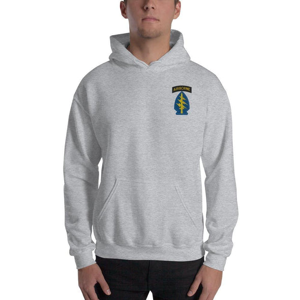 United States Army Special Forces Airborne Embroidered Unisex Hoodie - Sport Grey / S