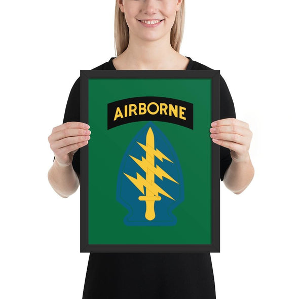 United States Army Special Forces Airborne Framed poster - 12×16