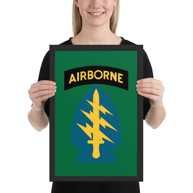 United States Army Special Forces Airborne Framed poster - 12×18