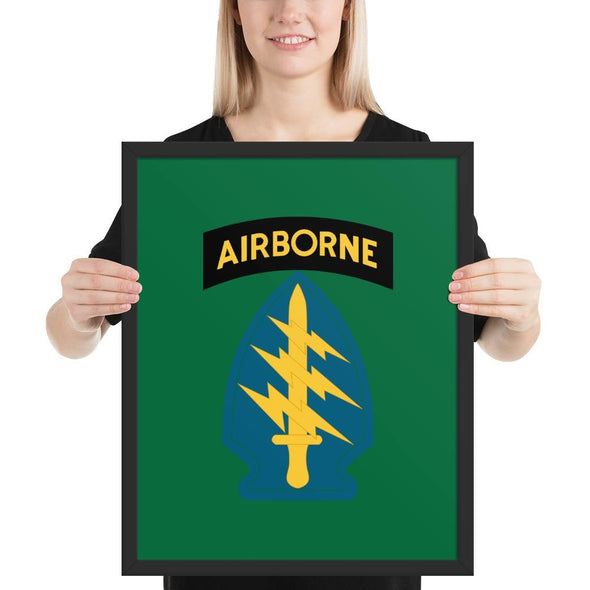 United States Army Special Forces Airborne Framed poster - 16×20