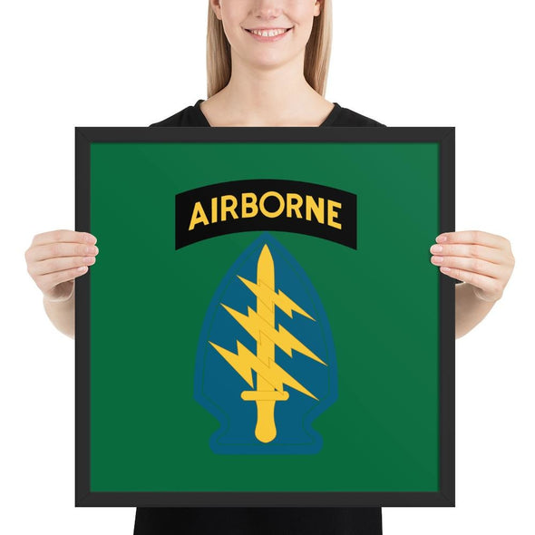 United States Army Special Forces Airborne Framed poster - 18×18