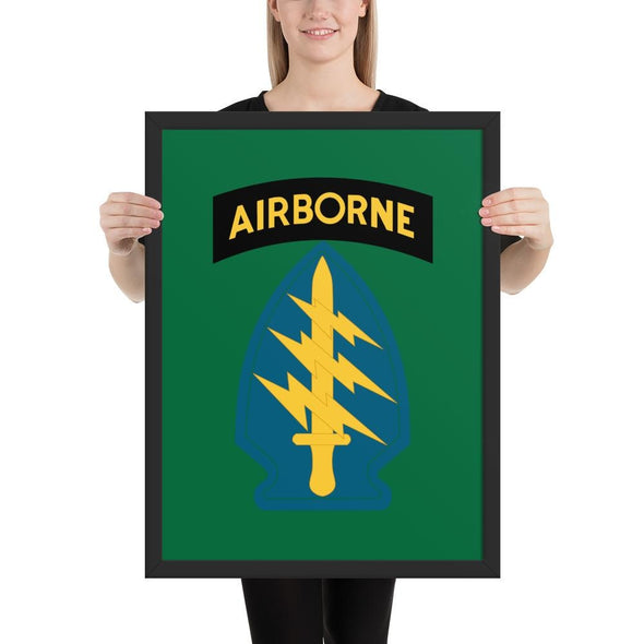 United States Army Special Forces Airborne Framed poster - 18×24