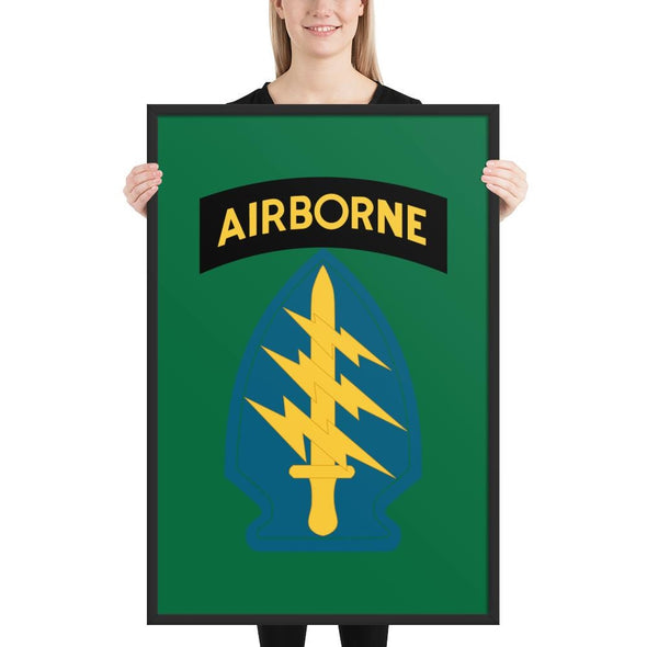 United States Army Special Forces Airborne Framed poster - 24×36