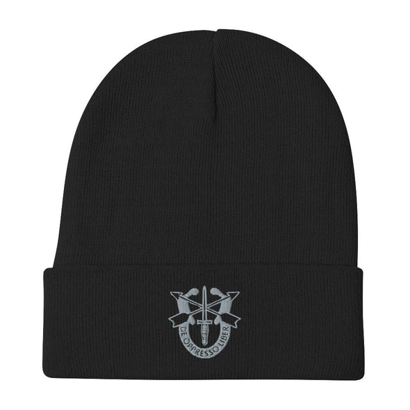 United States Army Special Forces Crest Embroidered Beanie - Black
