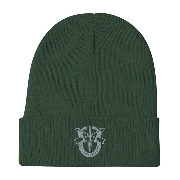 United States Army Special Forces Crest Embroidered Beanie - Dark green