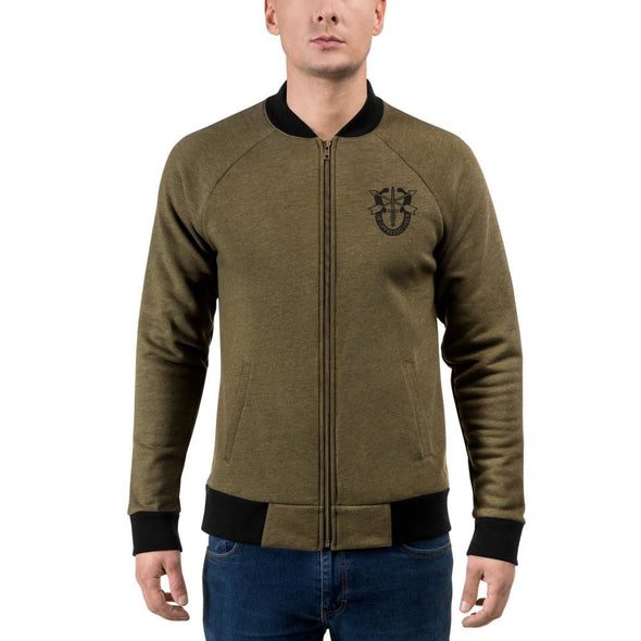 United States Army Special Forces Crest Embroidered Bomber Jacket