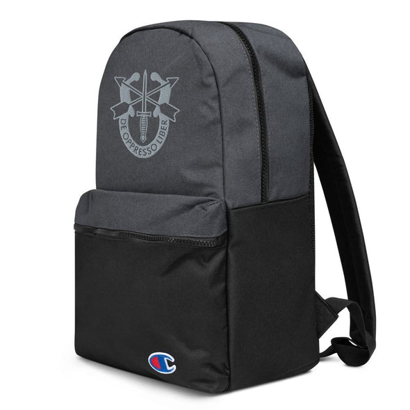 United States Army Special Forces Crest Embroidered Champion Backpack