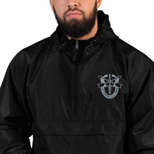 United States Army Special Forces Crest Embroidered Champion Packable Jacket - S