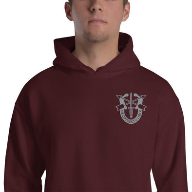 United States Army Special Forces Crest Embroidered Unisex Hoodie - Maroon / S