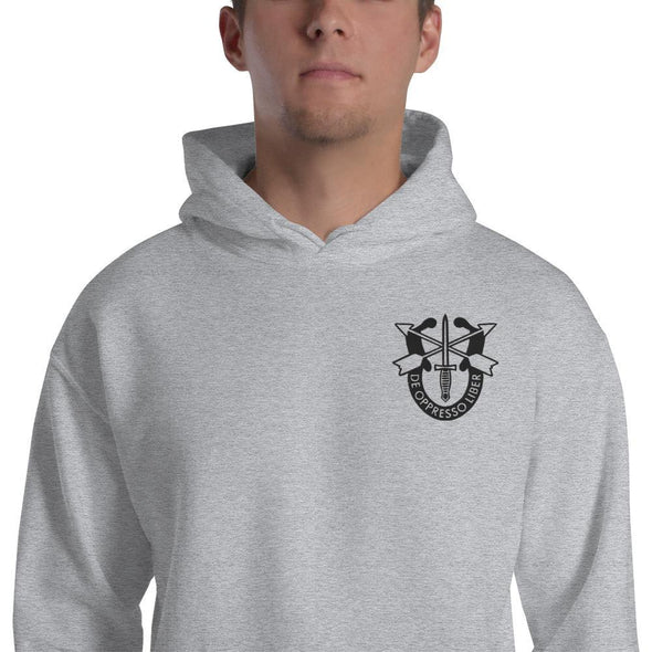 United States Army Special Forces Crest Embroidered Unisex Hoodie - Sport Grey / S