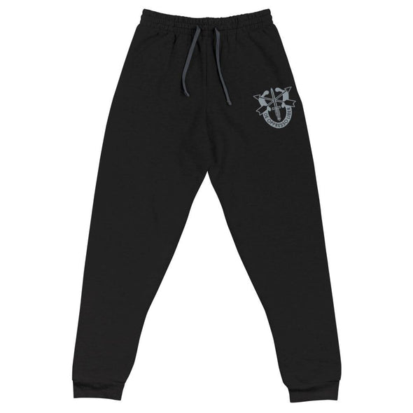 United States Army Special Forces Crest Embroidered Unisex Joggers - Black / S