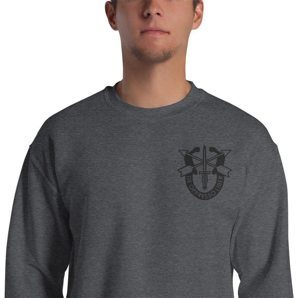 United States Army Special Forces Crest Embroidered Unisex Sweatshirt - Dark Heather / S