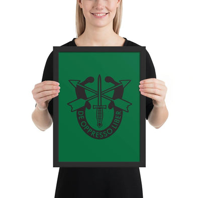 opszillastore,United States Army Special Forces Crest Framed poster,