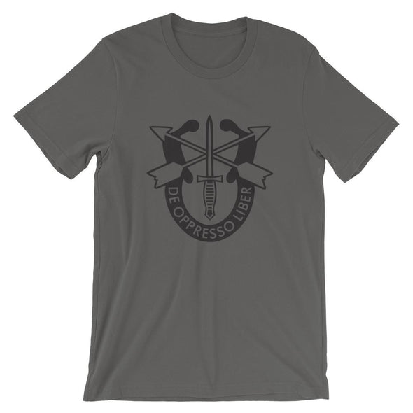 United States Army Special Forces Crest Short-Sleeve Unisex T-Shirt - Asphalt / S