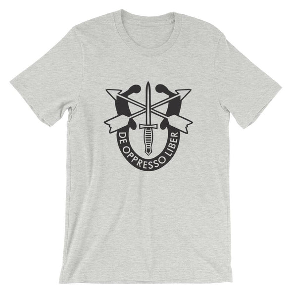 United States Army Special Forces Crest Short-Sleeve Unisex T-Shirt - Athletic Heather / S
