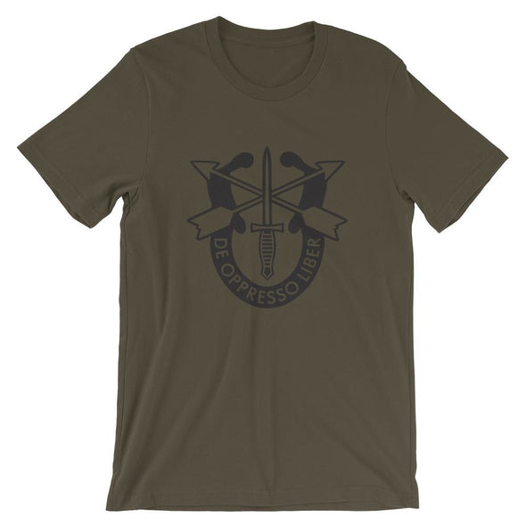 United States Army Special Forces Crest Short-Sleeve Unisex T-Shirt - Army / S