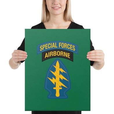 United States Army Special Forces Tab & Patch Canvas - 16×20