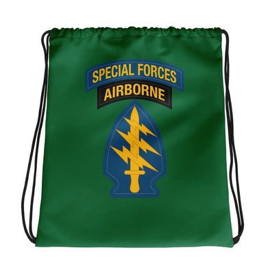 United States Army Special Forces Tab & Patch Drawstring bag