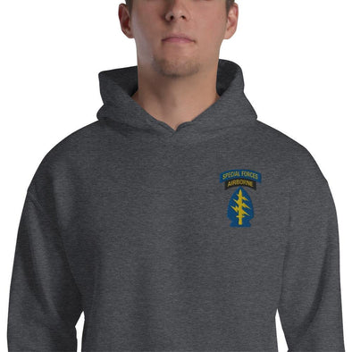 United States Army Special Forces Tab & Patch Embroidered Unisex Hoodie - Dark Heather / S