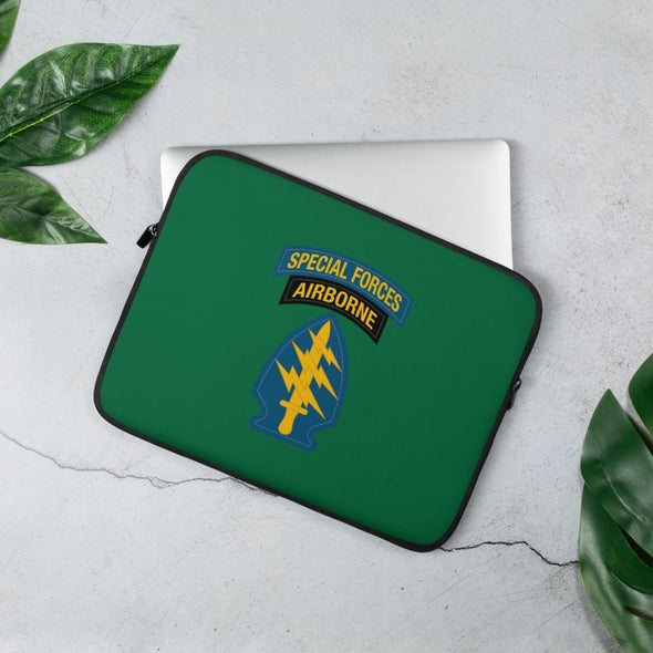 United States Army Special Forces Tab & Patch Laptop Sleeve - 13 in