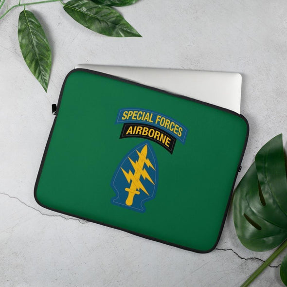 United States Army Special Forces Tab & Patch Laptop Sleeve - 15 in