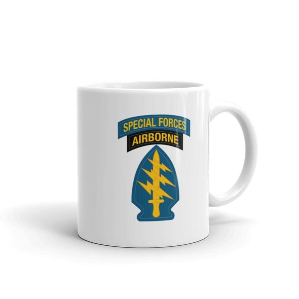 United States Army Special Forces Tab & Patch Mug - 11oz
