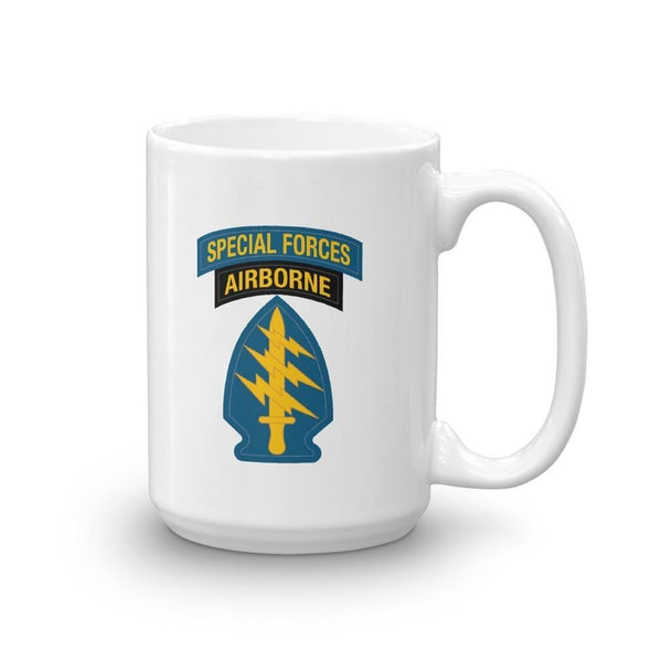 United States Army Special Forces Tab & Patch Mug - 15oz