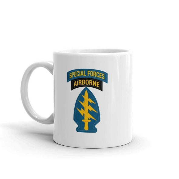 United States Army Special Forces Tab & Patch Mug