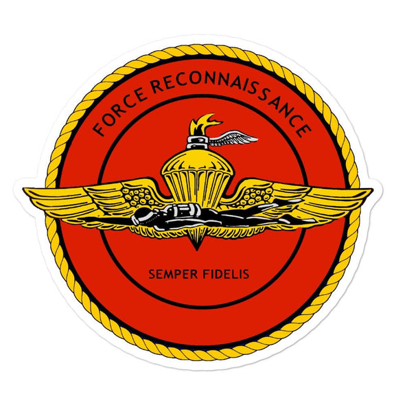 United States Marine Corps (USMC) Force Recon Bubble-free stickers - 5.5x5.5